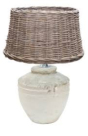 antique style glazed table lamp in white u2013 english country home