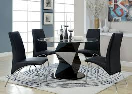 dining room stylish black dining room with contemporary table