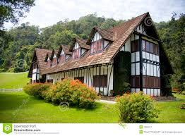 colonial tudor style mansion stock image image 1894071
