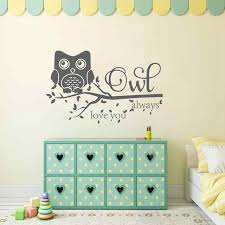 Nursery Wall Mural Decals Battoo Owl Always You Wall Decal Quote Owl Wall Murals