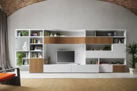 librerie bianche pareti attrezzate per soggiorno e librerie componibili napol