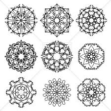 ornamental patterns snowflakes vector clipart image 90584