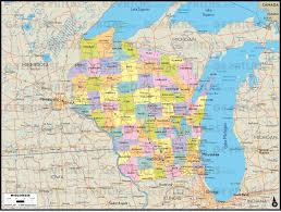 Maps Of Wisconsin by Geoatlas United States Canada Wisconsin Map City Illustrator
