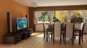 3d dining room and living room cgtrader