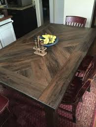 Dining Room Table Top White Pedestal Herringbone Table Top Diy Projects Best