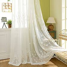 Lace Curtains Amazon Amazon Com Jolin Sheer Panels White Lace Curtains Living Room