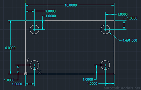 autocad tutorial how to draw plate with screw hole