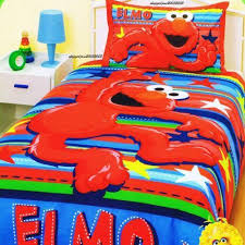 Elmo Bedding For Cribs Sesame Toddler Bedding Ebay