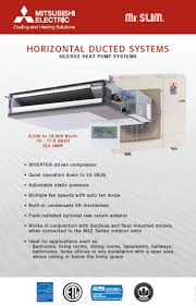 mitsubishi electric mr slim mitsubishi air conditioning contractor ductless and central ac