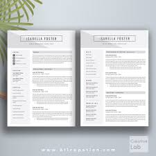 2 page resume template creative resume template cv template cover letter 1 2 3 page 2