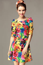 colorful dress colorful floral print dress jpg 600 900 flower prints