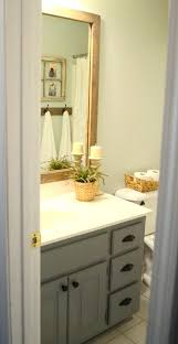 Oak Framed Bathroom Mirror Wooden Framed Bathroom Mirror Stained Wood Framed Bathroom Mirror