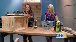 how to make a storage ottoman from wooden crates youtube