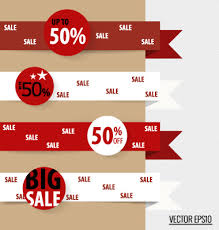 ribbon for sale sale ribbon banner paper vector free vector in encapsulated
