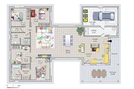 plan maison 6 chambres plain pied exceptionnel plan maison 120m2 3 chambres 6 maison de plain pied