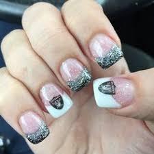 raider nails nfl nflnails raiders nails crystals coffintip