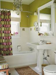 Pink And Brown Bathroom Ideas Decorating With Green Walls Accents And Accessories Green