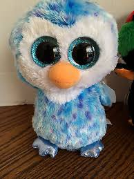 ty plush beanie boos collection blue penguin ice cube birthday