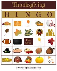 free printable thanksgiving bingo the typical