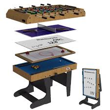 large multi game table riley 4ft 12 in 1 folding multi games table riley 4ft folding