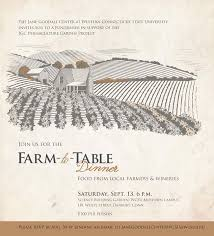 farm to table dinner wcsu hosting farm to table dinner local food rocks