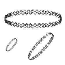 tattoo chokers necklace images Designer black tattoo choker necklace at rs 24 piece choker jpg