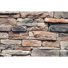 shop m rock 48 sq ft brown ledgestone flat at lowes com diy