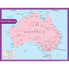 Austrailia Map Australia Map Chart Tcr7653 Teacher Created Resources