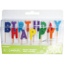 happy birthday candles amscan happy birthday candles hobbycraft
