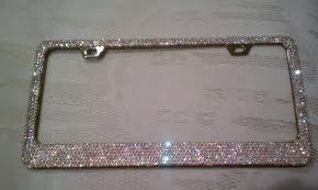 lexus accessories license plate 6 rows swarovski crystal ab license plate frame