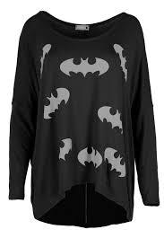 women batman 3 4 sleeves t shirt ladies dipped hem baggy oversized