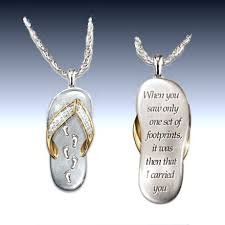 footprints in the sand gifts my dear granddaughter s footprints in the sand pendant