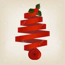 ribbon christmas tree ribbon christmas tree formed of a coiled spiral of ribbon