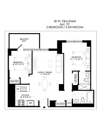 nyc brownstone floor plans no fee nyc apartments stellar management upper west side 50 west