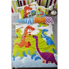 Dinosaur Single Duvet Set Dinoroar Duvet Cover Grahambrownuk