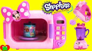 mickey mouse kitchen appliances minnie mouse marvelous microwave with shopkins season 4 food fair