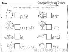beginning sound stamp pdf word work pinterest beginning