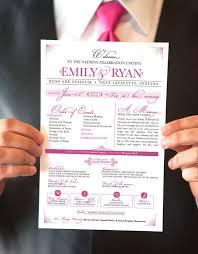Printable Wedding Program One Page Wedding Program Template Template Design