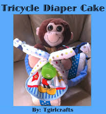 How To Make A Tricycle Diaper Cake For A Baby Shower Youtube