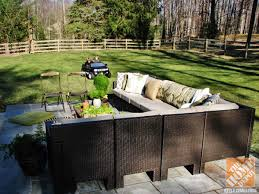 Hamptons Style Outdoor Furniture - cozy contemporary backyard patio by lauren of pure style home