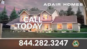 Hiline Homes Floor Plans by Adair Homes Affordable Custom Homes Youtube