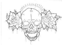 skull with thorns a flash by fariel2012 on deviantart
