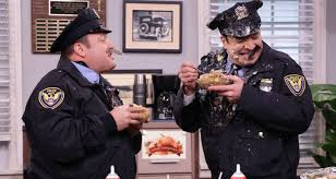 thanksgiving skits video kevin james u0026 jimmy fallon spit thanksgiving food at each