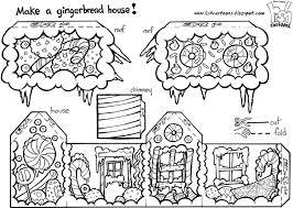 gingerbread house color cut u0026 assemble doodling