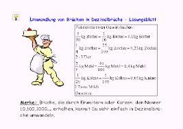 brüche umrechnen fördern brüche dezimalbrüche prozentrechnen mathematik