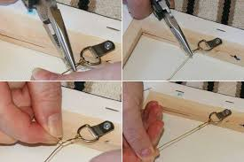 how to hang a painting with wire and d rings