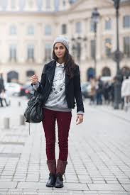 short moto boots red velvet pants moto boots sweater collared shirt under short