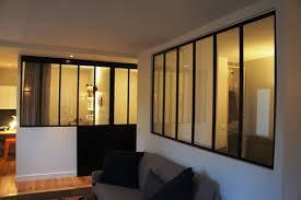 chambre et verrière pour séparer une chambre et un salon
