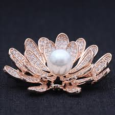 blucome cubic zircon flower wedding brooches jewelry brand women