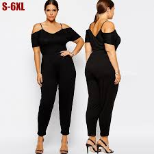 womens dressy jumpsuit 5x 6xl jumpsuits plus size rompers black big